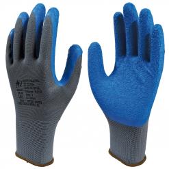 Luva Poliamida com Banho Látex Corrugado Azul